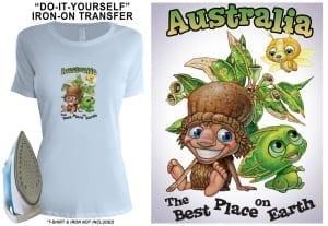 Transfer - Australia-Best-Place-Tshirt-Transfer Image