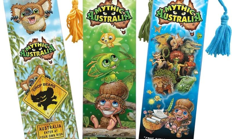Mythic Australia 3D bookmark set