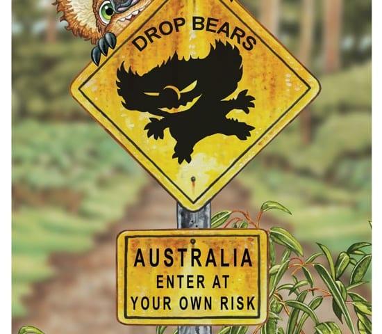 Drop Bear Warning sign