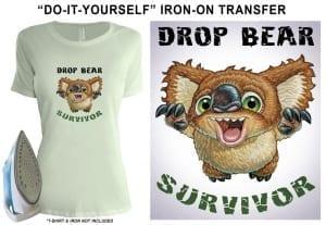 Transfer - Drop Bear Survivor T-shirt Transfer Image