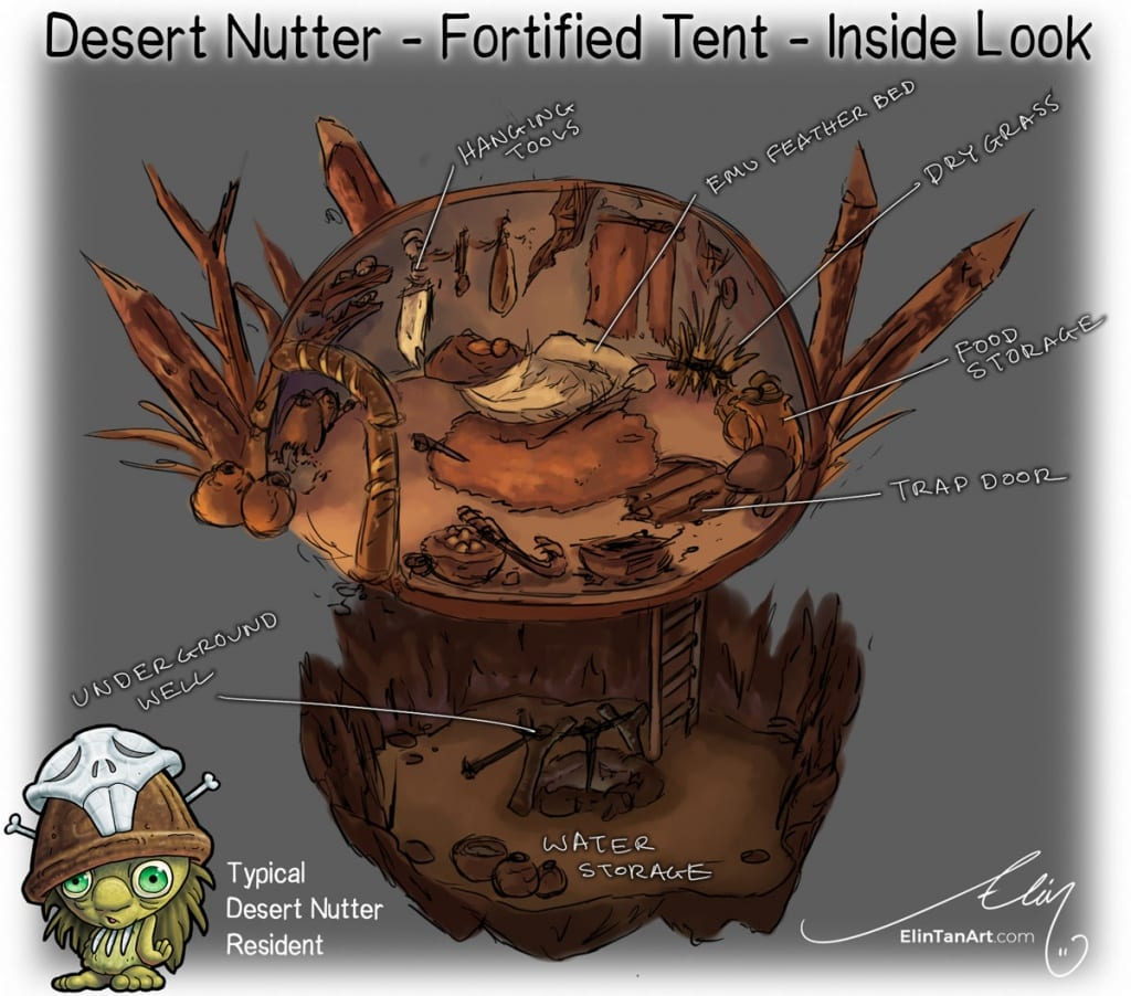 Desert Nutter Fortified Camp Mythic Australia by Elin Tan