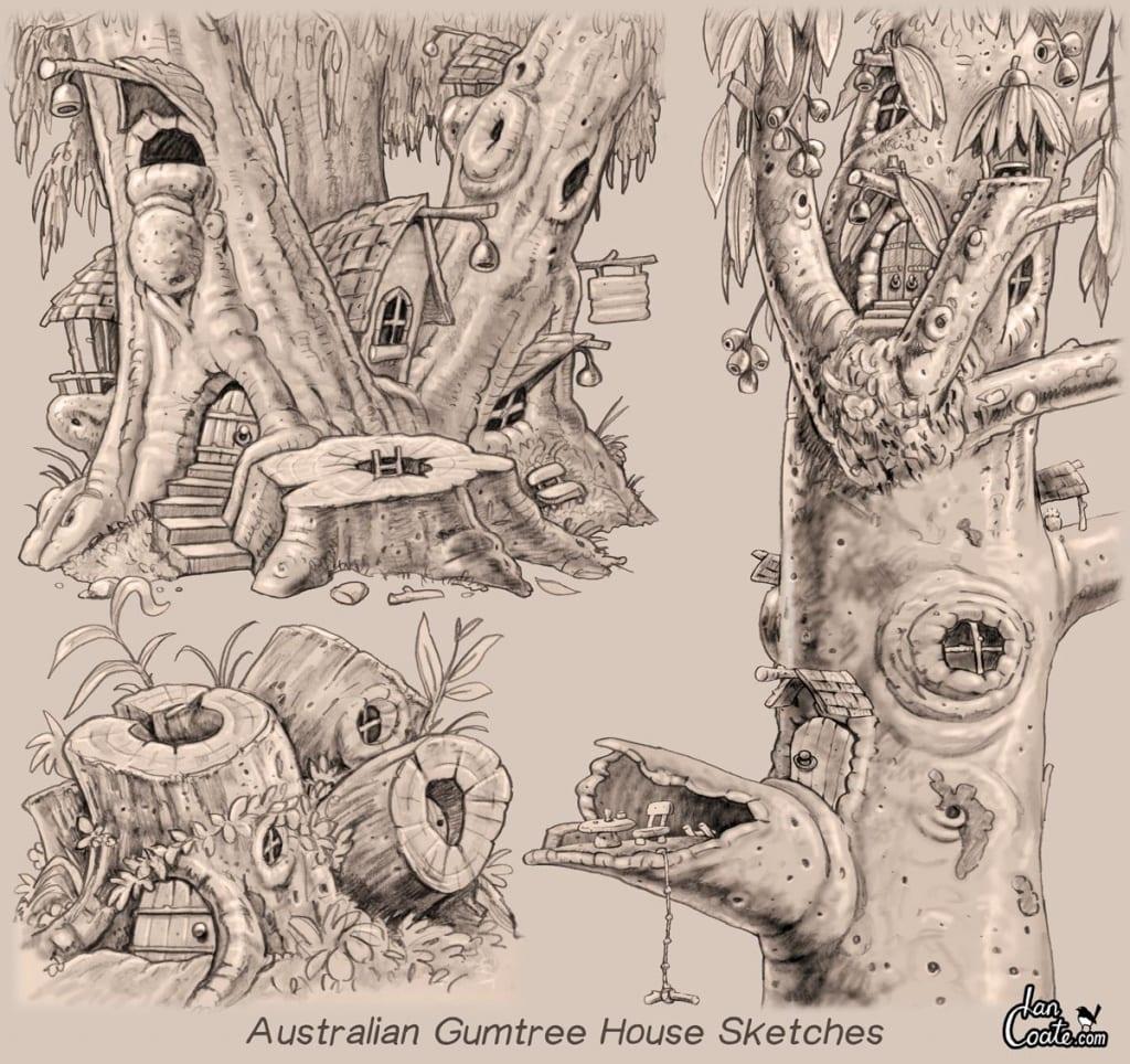Gumtree House Sketches Mythic Australia