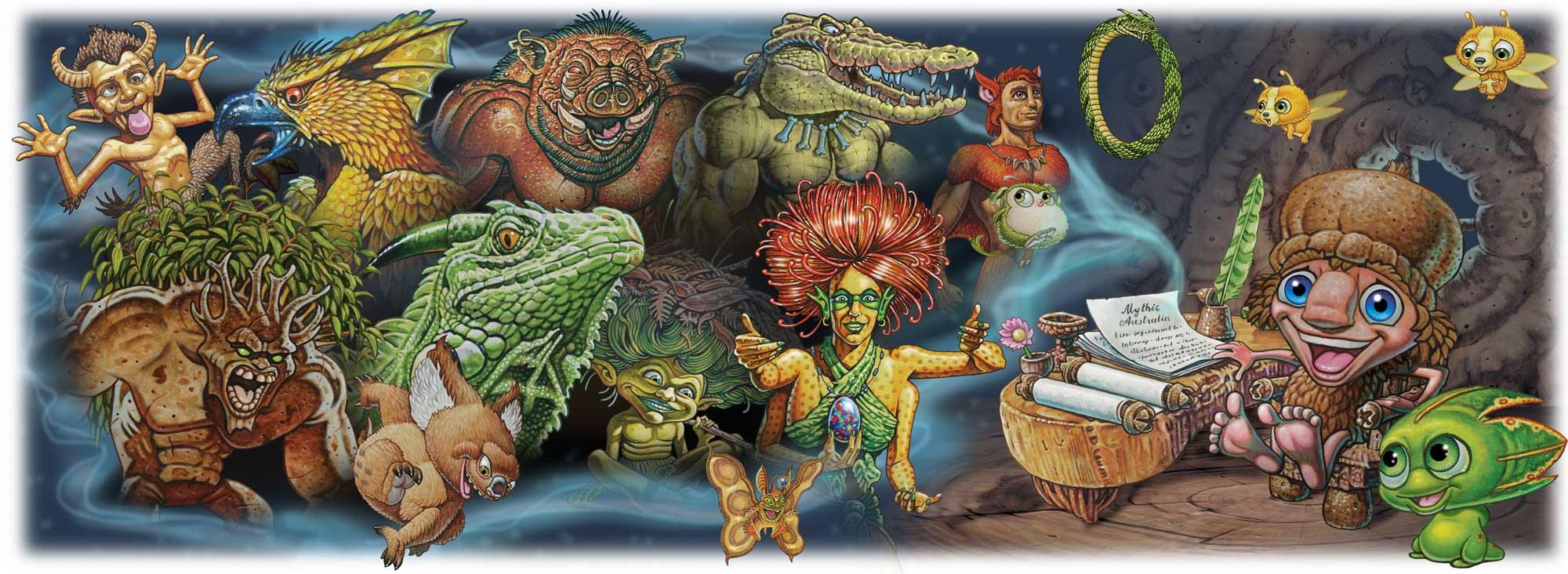 Mythic Australia Creatures