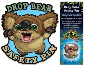 Drop Bear Safety Pin Image