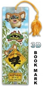 3D Bookmark Drop Bear Image