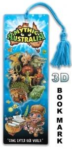 Mythic Australia 3D bookmark Kip at his desk