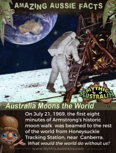 Aussie Facts Australia Moons the World
