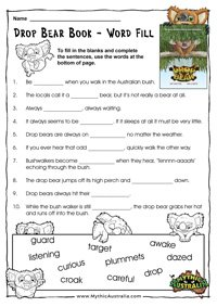 Drop Bear Word Fill