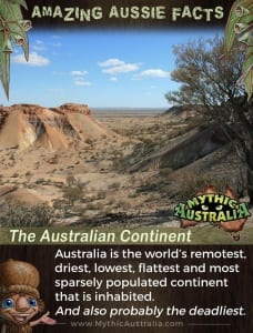 Aussie Facts The Australian Continent