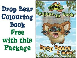 Mythic Australia Free Colour-in Drop Bear