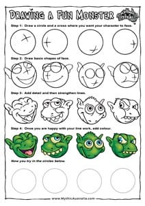 Drawing a Monster Face