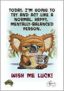 Grumpy Drop Bear - Wish Me Luck Image