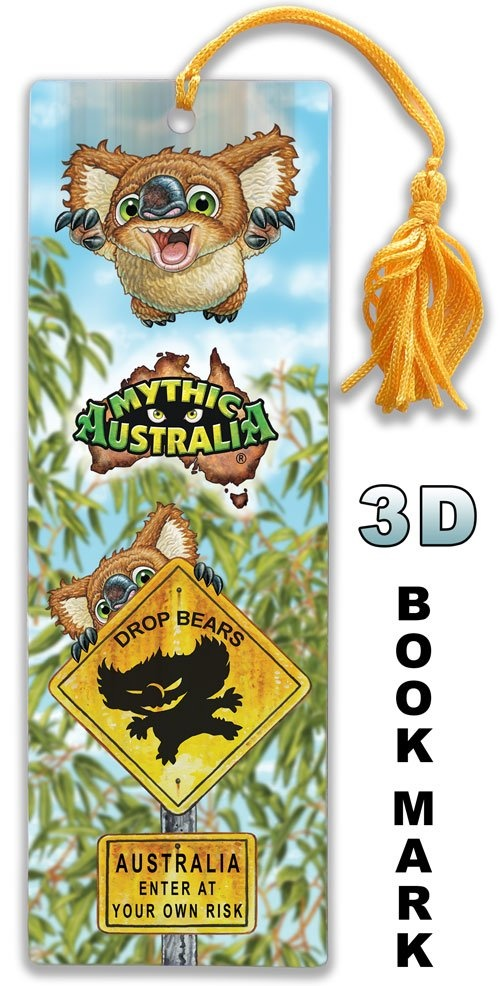Mythic Australia 3D bookmark Dropbear
