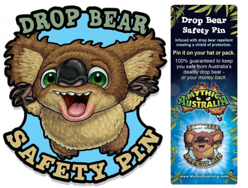 Mythic Australia Drop Bear Safety Pins